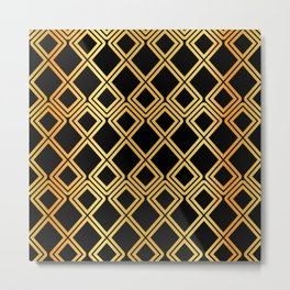 Gold Pattern Metal Print