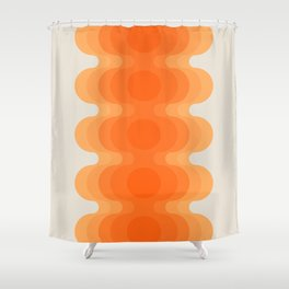 Echoes - Creamsicle Shower Curtain