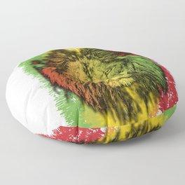 Rasta Jamaican Lion Gift for Rastafari & Reggae music fans graphic Floor Pillow