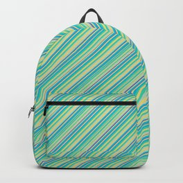 Lime Inclined Stripes Backpack