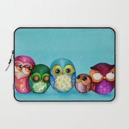 Fabric Owl Family Laptop Sleeve