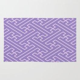 Lilac Sayagata Pattern - Auspicious Sacred Geometry Rug