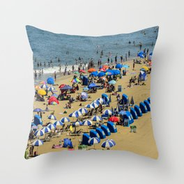 Fun at the Beach Throw Pillow