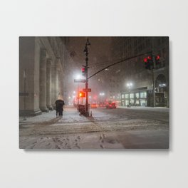 New York City Snow Romance Metal Print