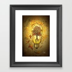 Autumn light Framed Art Print