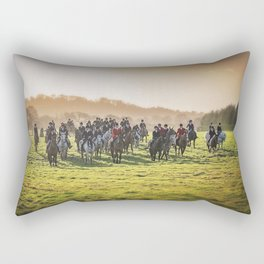 Cheshire Drag Hunt Boxing day 2016 Rectangular Pillow