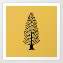 West Coast Cedar Tree Mustard Art Print
