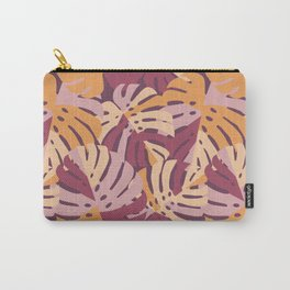 Color Block Monstera Purple Carry-All Pouch