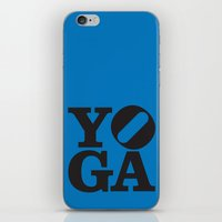 yoga iPhone & iPod Skins featuring YoGA by CGould