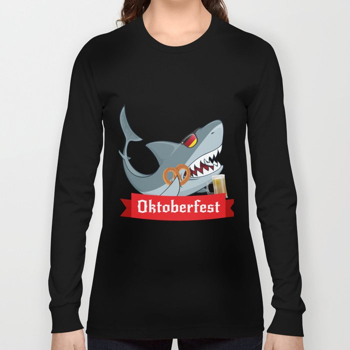 da1140f40 Shark Oktoberfest Funny Long Sleeve T-shirt by magnum | Society6