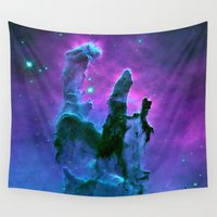 nebula Wall Tapestries featuring Nebula Purple Blue Pink by 2sweet4words Designs