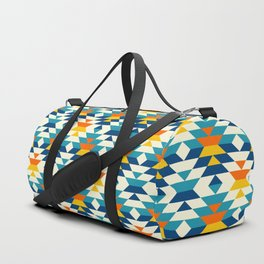 Bohemian large aztec diamonds blue pattern Duffle Bag