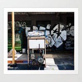 Abandoned Petrol Station. Stanwell Park. Australia. Art Print