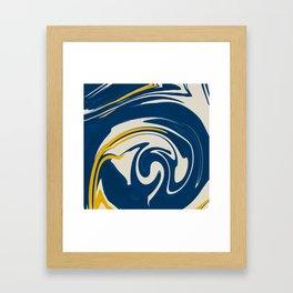 Soft Blue Marble Framed Art Print