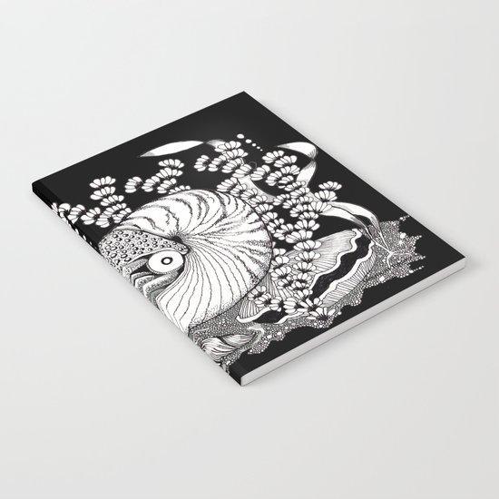 Zentangle Nautilus Black Ocean Notebook
