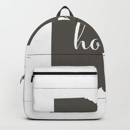 Ohio is Home - Charcoal on White Wood Backpack