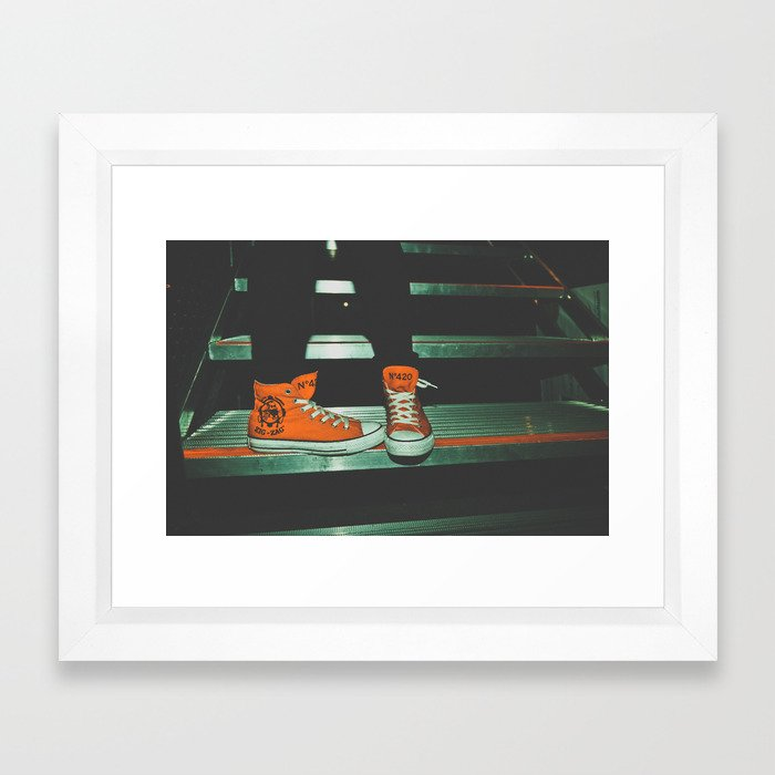 can i kick it?...yes you can.  Framed Art Print