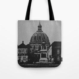 Denmark Black and White Photography of Amalienborg Palace Tote Bag