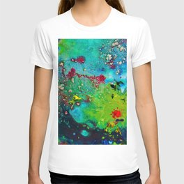 nature fever abstract paint T-shirt