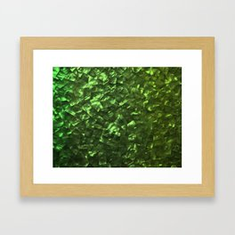 Bright Jade Green Jewelry Mother of Pearl Framed Art Print