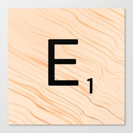 Scrabble E - Large Scrabble Tiles Canvas Print