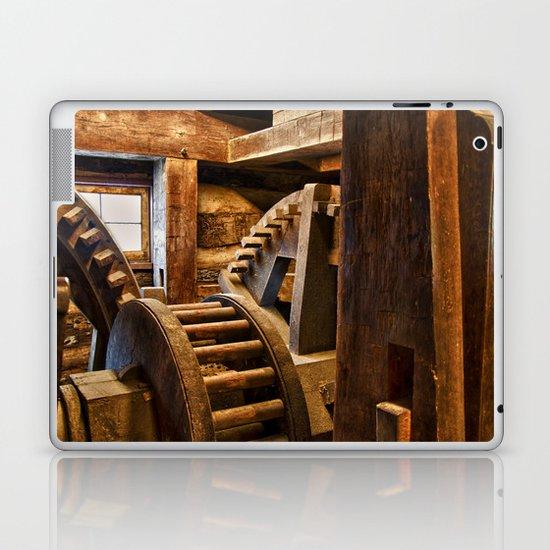 Wooden Gears Laptop & iPad Skin