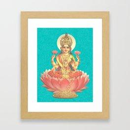 Lakshmi, Goddess of Love (Turquoise) Framed Art Print