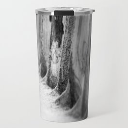 Wooden beach stakes. Travel Mug