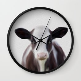 cow painting, cow print,Nursery Animal Print, Safari Nursery Print Wall Clock