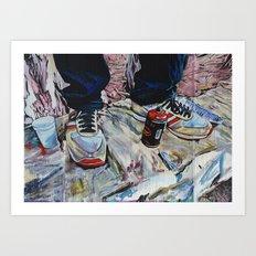 illegal street-art-worker Art Print