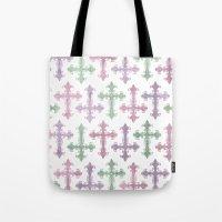 pastel goth Tote Bags featuring Pastel Goth | Grunge by Glitterati Grunge