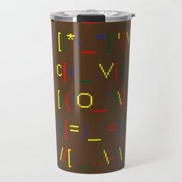 ASCII ART TOTEM POLE Travel Mug