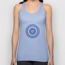 Blue round lace Unisex Tank Top