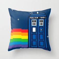 TARDIS / Nyan / 8-Bit Poster Throw Pillow