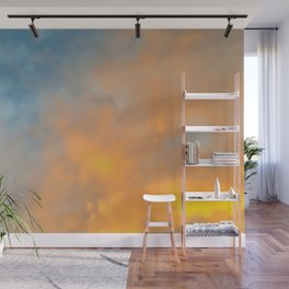 Golden Blue Sky Wall Mural