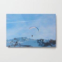 Paragliding, Alps, Arcs 1800 Metal Print