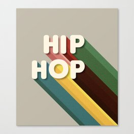 HIP HOP - typography Canvas Print