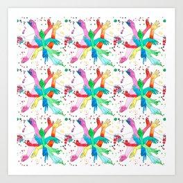 Hands Pattern Art Print