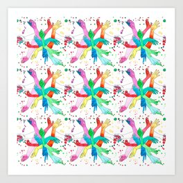 Hands Pattern Art Print