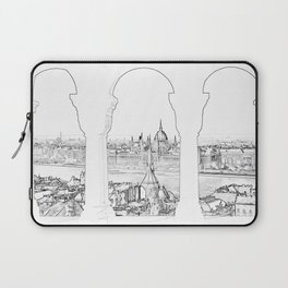 Budapest and hungarian parliament Laptop Sleeve