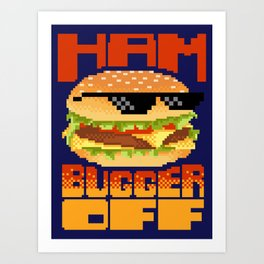 Edgy Burger Art Print
