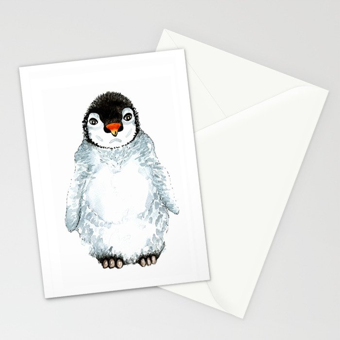 Molly the baby penguin Stationery Cards