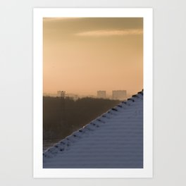 Suburban haze Art Print