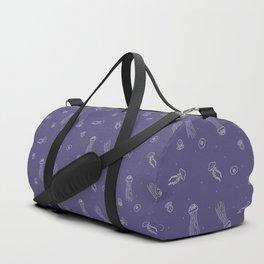 Jellyfish in Purple Duffle Bag