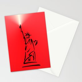 Red Statue of Liberty Stationery Cards