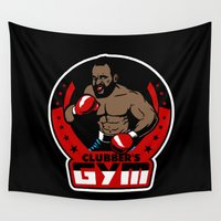 gym Wall Tapestries featuring Clubber's Gym by Buby87