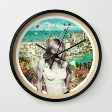 Falling Free Wall Clock