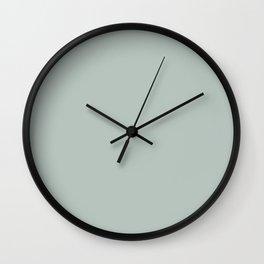 Ash Sage Solid Color Block Wall Clock