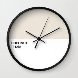 Coconut Pantone Chip • Tan • Neutral • Beige • Tropical • Graphic Designer • Island • Simple Print Wall Clock