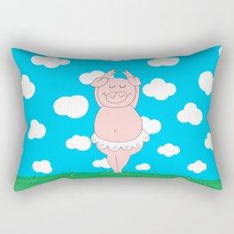 Dancer pig Rectangular Pillow